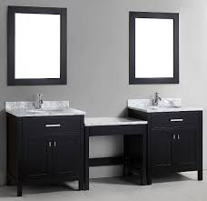 double vanity with makeup table. 90\ double vanity with makeup table