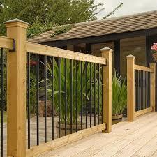external handrails for steps uk. traditional horizontal deck railing kit with black spindles external handrails for steps uk
