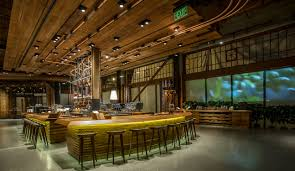 Cafeteria Lighting Design Starbucks Roastery And Tasting Us Project Delta Light