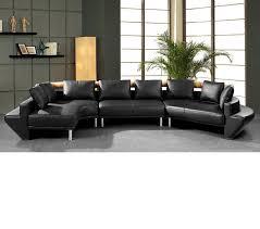 dreamfurniture com mars ultra modern black leather sectional sofa jupiter like