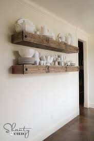 Making Floating Shelves 100 DIY Rustic Wood Shelves You Can Build Yourself 41