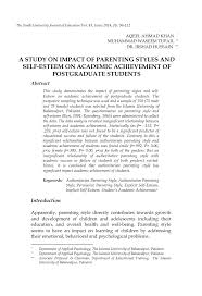 Pdf A Study On Impact Of Parenting Styles And Self Esteem On