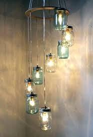 wagon wheel mason jar chandelier mason jar chandelier mason jar light chandelier