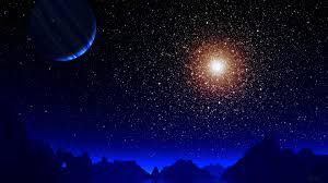 369013 Blue Night Moon Stars Earth 4k ...
