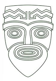 Small Picture Tiki Face coloring page Free Printable Coloring Pages