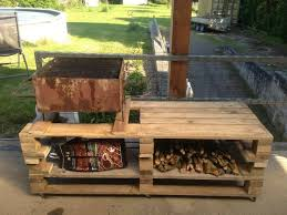 low cost pallet bbq grill table