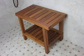 charming inspiration wood shower stool com spa teak bench 24 only health personal care australia