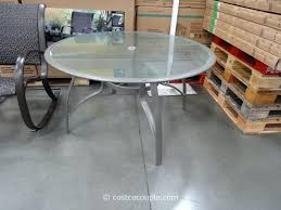 round white patio table with umbrella hole kirkland signature 50 inch patio table costco 1 round aluminum patio table with umbrella hole round glass patio