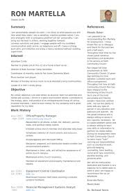 Property Manager Resume samples - VisualCV resume samples database
