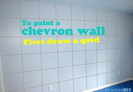 chevron wall draw horizontal lines to paint a chevron wall first draw a grid chevron wall
