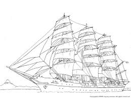 帆船日本丸の航海の下絵乗物のぬりえ