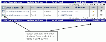 Address And Phone Number List Send Sms Text Messages Send Vcard To Cell Phone By Using Sms