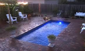 leisure palladium plunge fiberglass pool