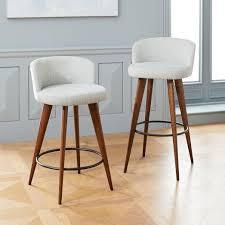 upholstered bar stools. Abrazo Upholstered Bar + Counter Stools E