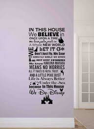 stunning inspiration ideas disney wall decor elegant design in this house we do sign decals stickers es target plaque princess