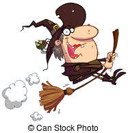 תוצאת תמונה עבור מכשפה על מטאטא