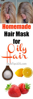 diy hair mask for oily hair was last modified july 19th 2017 by aniela 1 2 cup strawberries 1 tbsp salt juice of a lemon