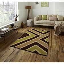 matrix t004 brown green rug by think rugs