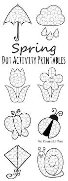 Spring Dot Coloring Pages Printable Coloring Page For Kids