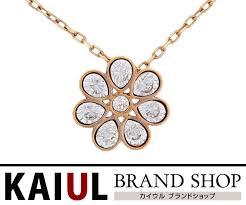 swarovski flower necklace rose gold rhinestone pendant accessories a rank