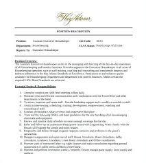 Executive Housekeeper Resume Professional Housekeeper Resume Resume