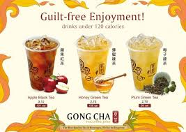gong cha singapore drinks under 120 calories