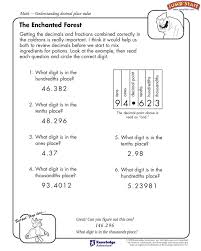 The Enchanted Forest (4th Grade): Understanding decimal place ...