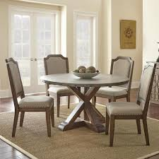 dining tables glamorous round zinc top table