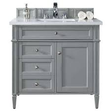Home Depot Brittany 36 In W Single Vanity In Urban Gray With Quartz Top  White