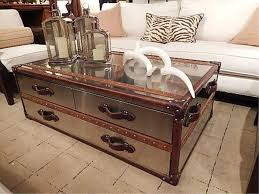 Black Steamer Trunk Coffee Table Steamer Trunk Style Coffee Tables Coffee Addicts