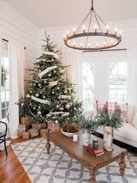 Monochromatic Living Room Decor How To Decorate A Christmas Tree Hgtvs Decorating Design Blog