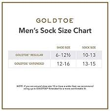 Gold Toe Mens 6 Pack Cotton Crew Athletic Sock White 10