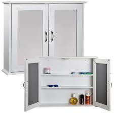Bathroom: Tall White Bathroom Storage Cabinet Design With Glass ...