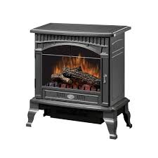 dimplex traditional 400 sq ft electric stove in pewter