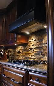modern kitchen stone backsplash. Brilliant Kitchen Modern Kitchen Real Estate Luxury Stone Backsplash Beveled Granite  Dark Cabinets With Under Cabinet Lighting Throughout Stone Backsplash