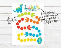Dinosaur Potty Training Reward Chart Custom Name Printable Dinosaur Theme Potty Training Chart Printable Sticker Chart Reward Chart For Preschooler Potty Training Sticker