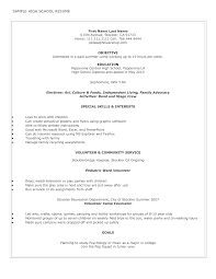 Comprehensible Resume Template For High School Students With