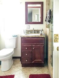 bathroom remodel budget. Simple Bathroom Small Bathroom Remodel Before View  Brown Cabinets On Bathroom Remodel Budget