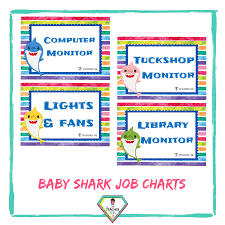 Teacher Resource Baby Shark Job Charts The Teacher Hero