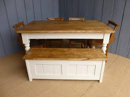 farmhouse table bench and 6 chairs