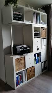 ikea office shelves. 15 super smart ways to use the ikea kallax bookcase ikea office shelves f