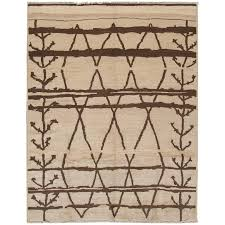 21st century modern beige abstract moroccan style rug for