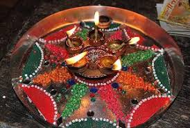 ganpati decoration ideas aarti thali decoration jpg