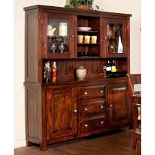 Kitchen Buffet Hutch Furniture Vineyard Wood China Buffet Hutch In Rustic Mahogany By Sunny