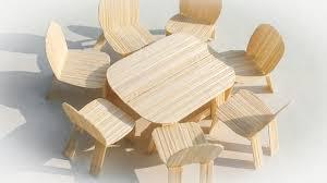 how to make mini furniture. how to make miniature table and chairs mini furniture i