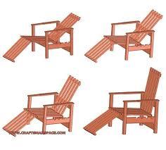 adjustable wooden chair plan wooden