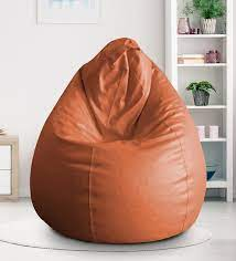 Buy Classic Xxl Bean Bag With Beans In Tan Colour By Style Homez Online Gaming Bean Bags With Beans Bean Bags Furniture Pepperfry Product