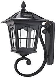 solar powered wall mount 2 led light lamp outdoor garden fence