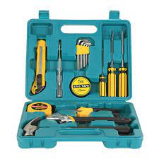 Bộ dụng cụ sửa chữa 16 món đa năng có hộp đựng (Xanh)