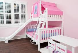 Bunk bed with stairs and slide Twin Matrixwhitetwinoverfullslide Maxtrix Kids Slide Beds Shop Top Selling Bunks Lofts With Slides